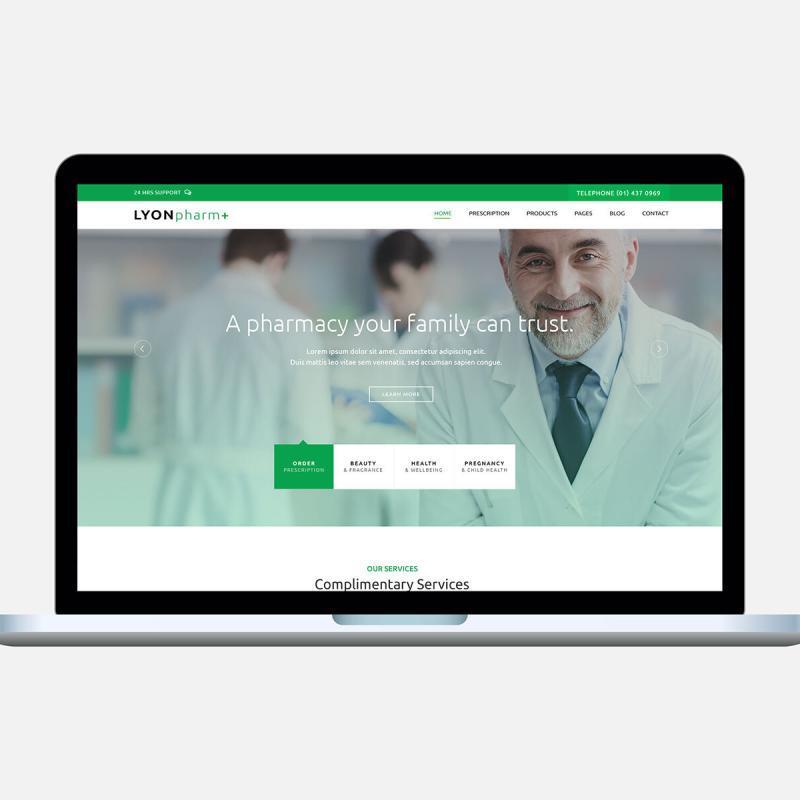 Lyon Pharmacy WordPress Template