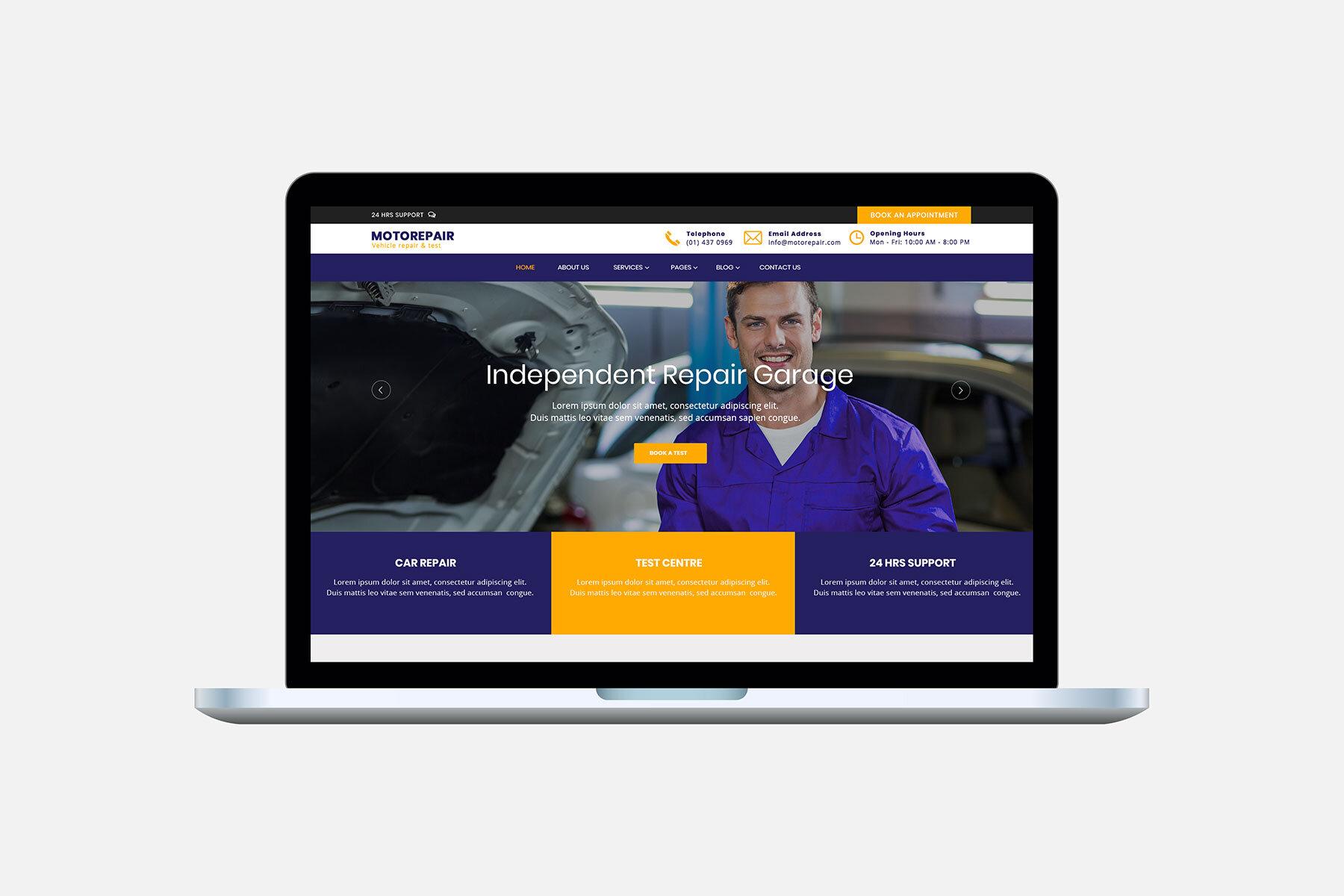 Motor Repair HTML5 Template
